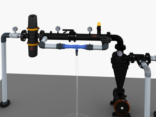 3D irrigation setup venturi