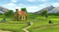 3D farmhouse field