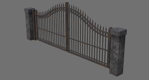 gate 1c 3D model