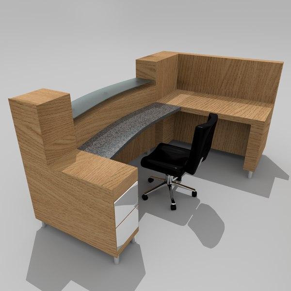 office secretary s 3D model