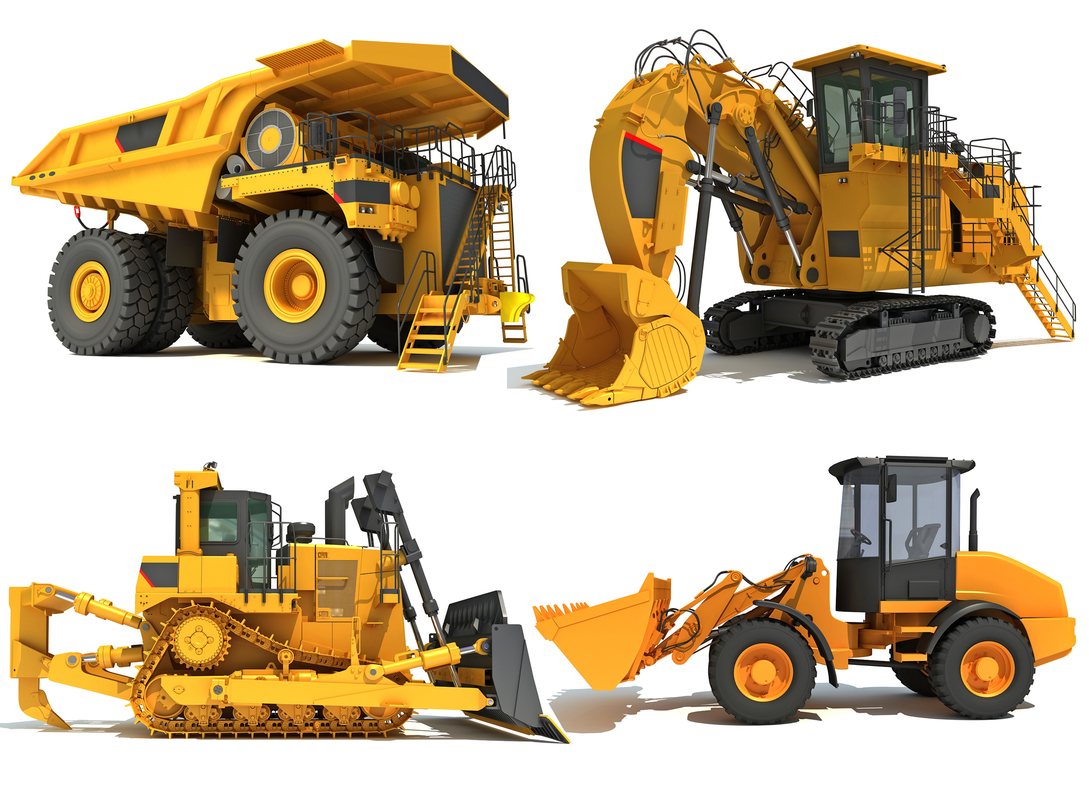 3D mining heavy vehicles