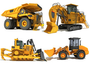 3D mining heavy vehicles