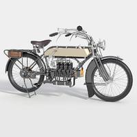 3D retro motorbike