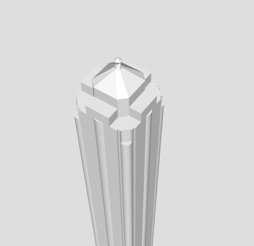 3D model tower paddy s markets