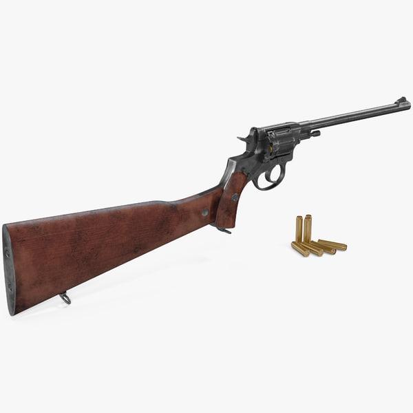 nagant carbine 3D model