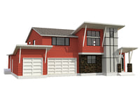 family house interial 3D