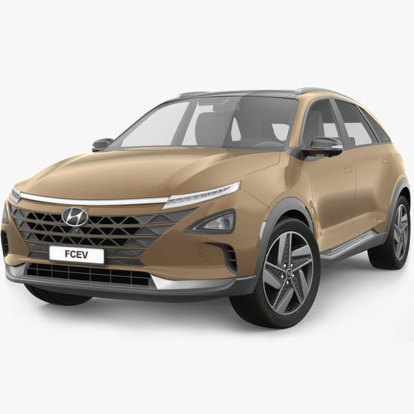 3D model hyundai nexo 2019