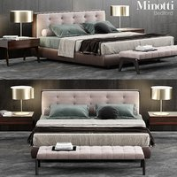3D minotti bedford bed