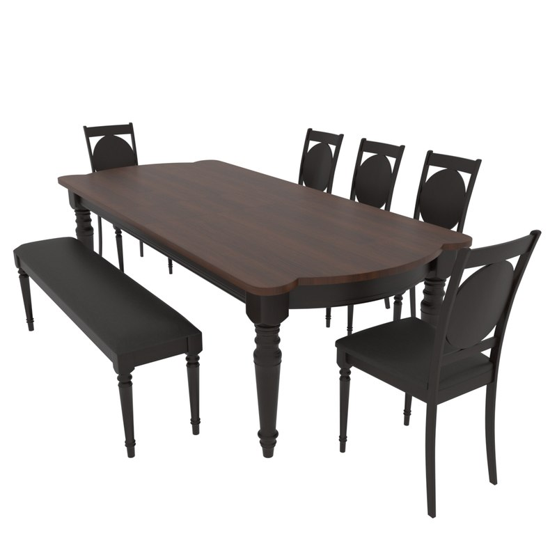 dining set table fiorenca 3D model
