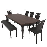 Dining set Mebel sky fiorenca table , chairs and bench