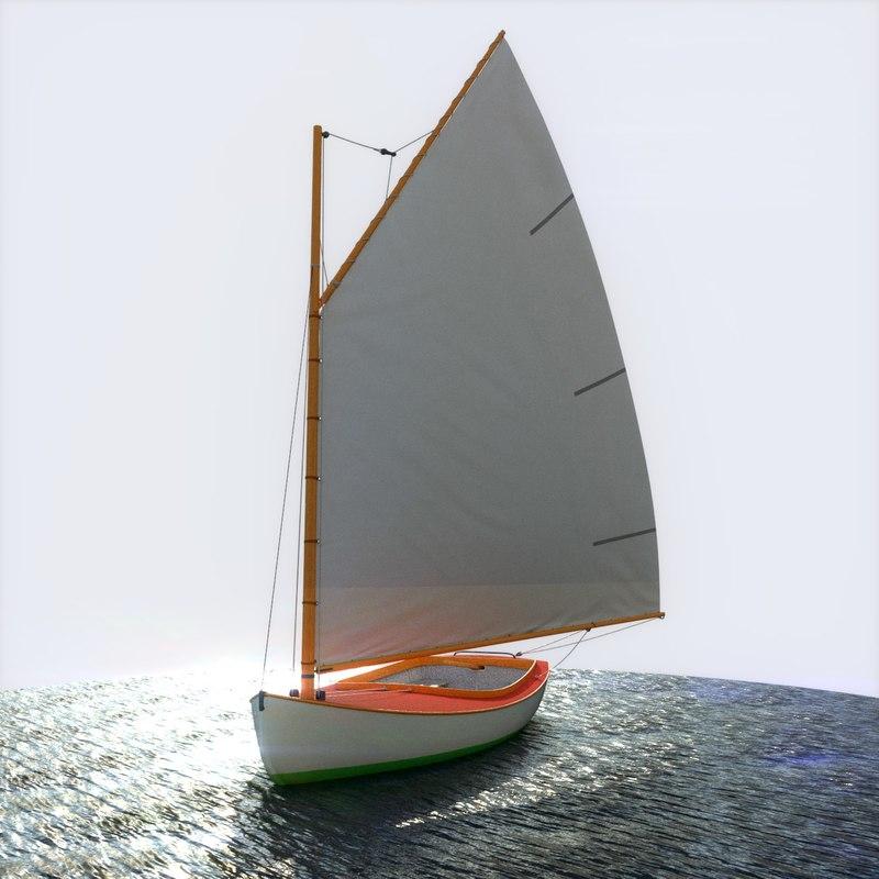 3d sailboat sailing vessel model
