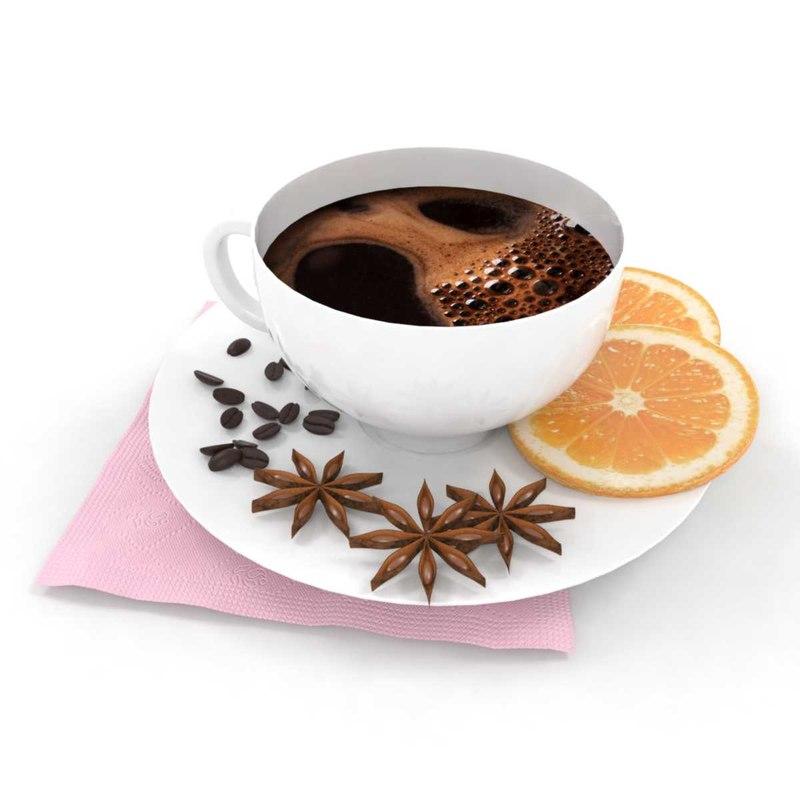 coffee set 3D