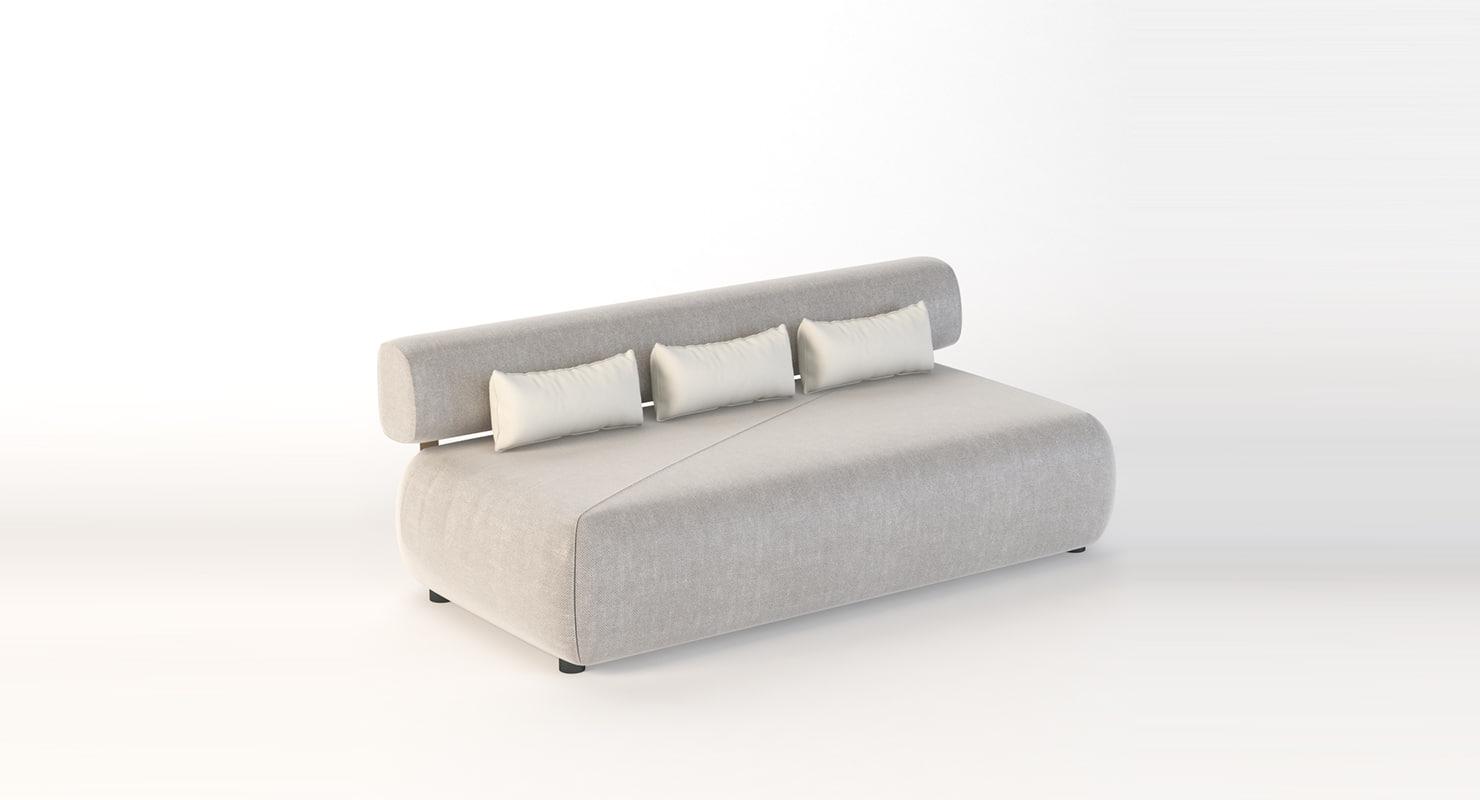 realistic photoreal sofa 3D