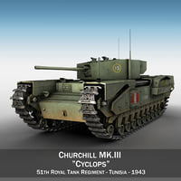 c4d british tank ii churchill