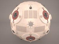 star wars training droid model