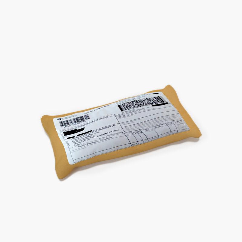 3D parcel 015 model