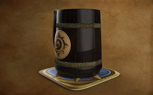 3D heartstone beer mug
