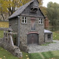 watermill daz studio 3D model
