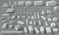 3D 66 pieces construction