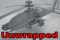 3D unwrapped helicopter apache