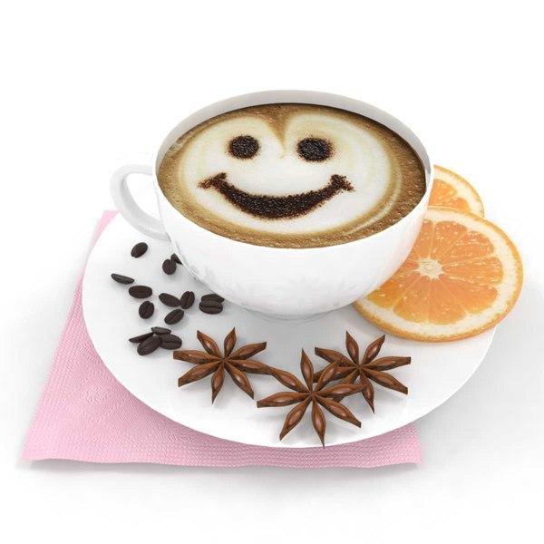 3D model coffee orange anise