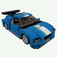 lego turbo track racer 3D model