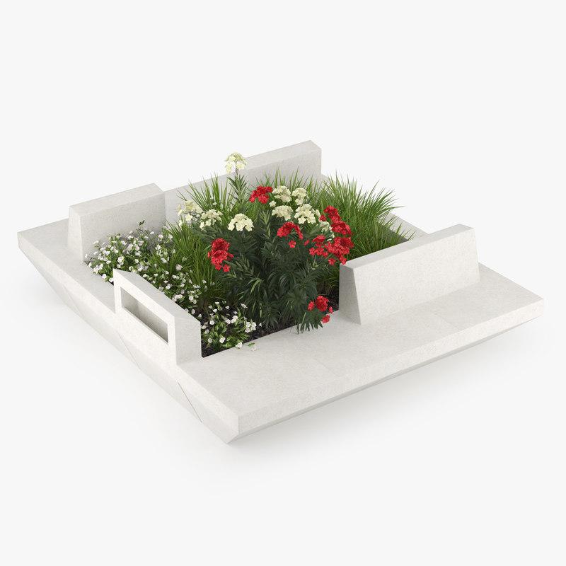 3D flower flowerbed