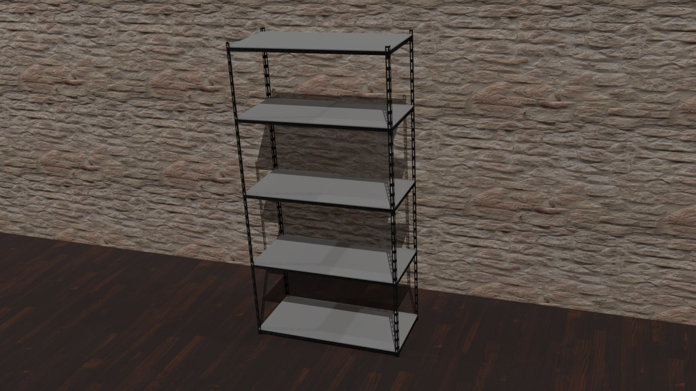 metal storage shelve 3D