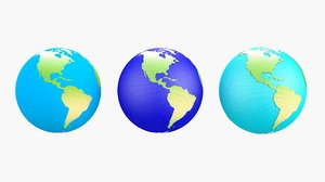 earth hexagons 3D model