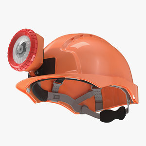 miner helmet lamp 3D model