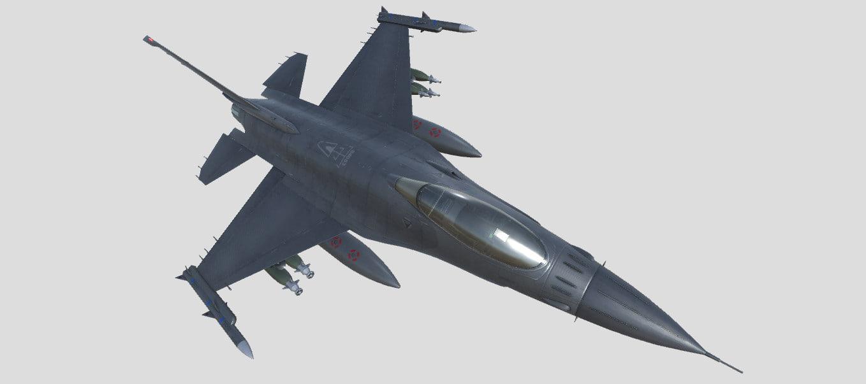 f-16 fighting falcon jet 3D model