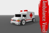 Voxel Ambulance Low Poly