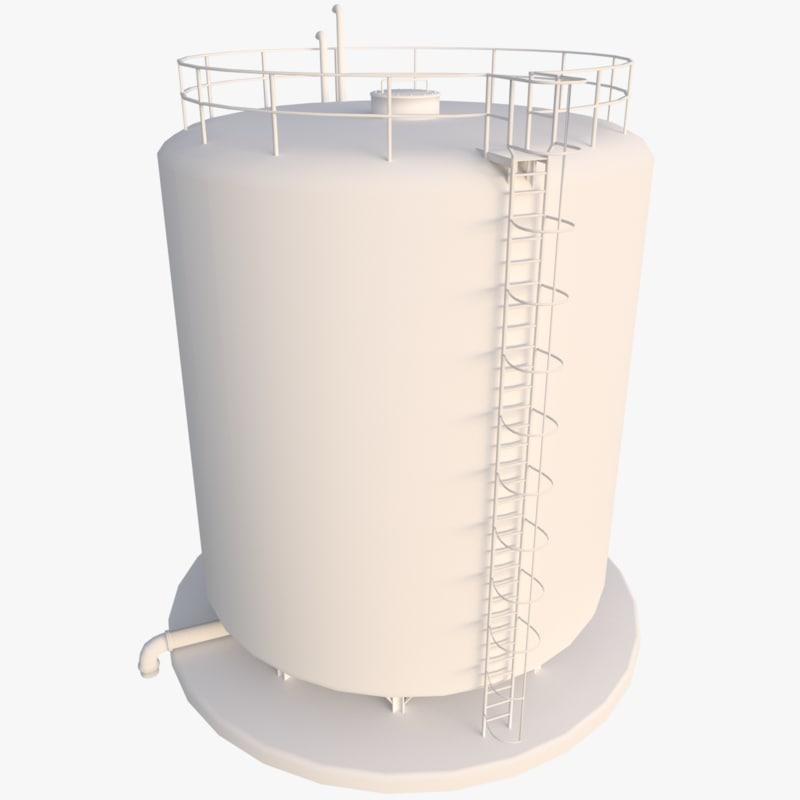 industrial tank 3D model