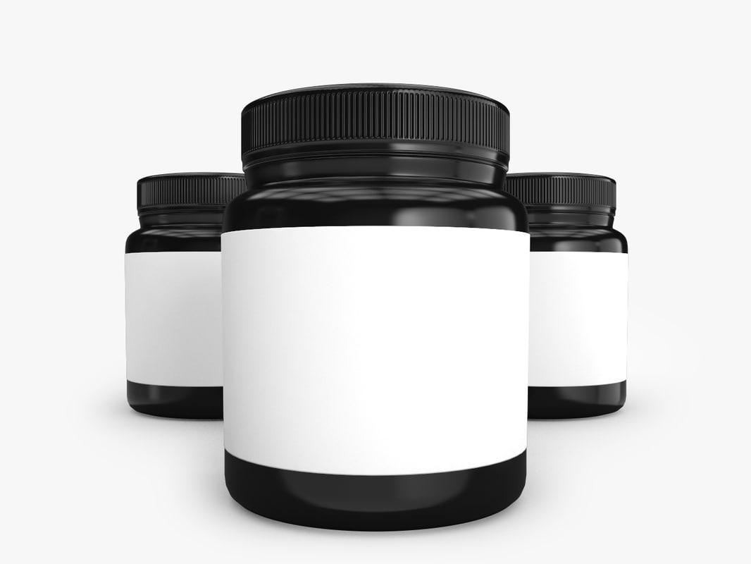 3D supplement bottle