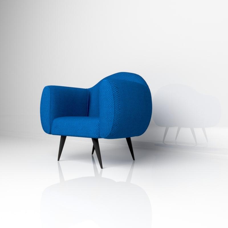 modern lounge chair 3D model