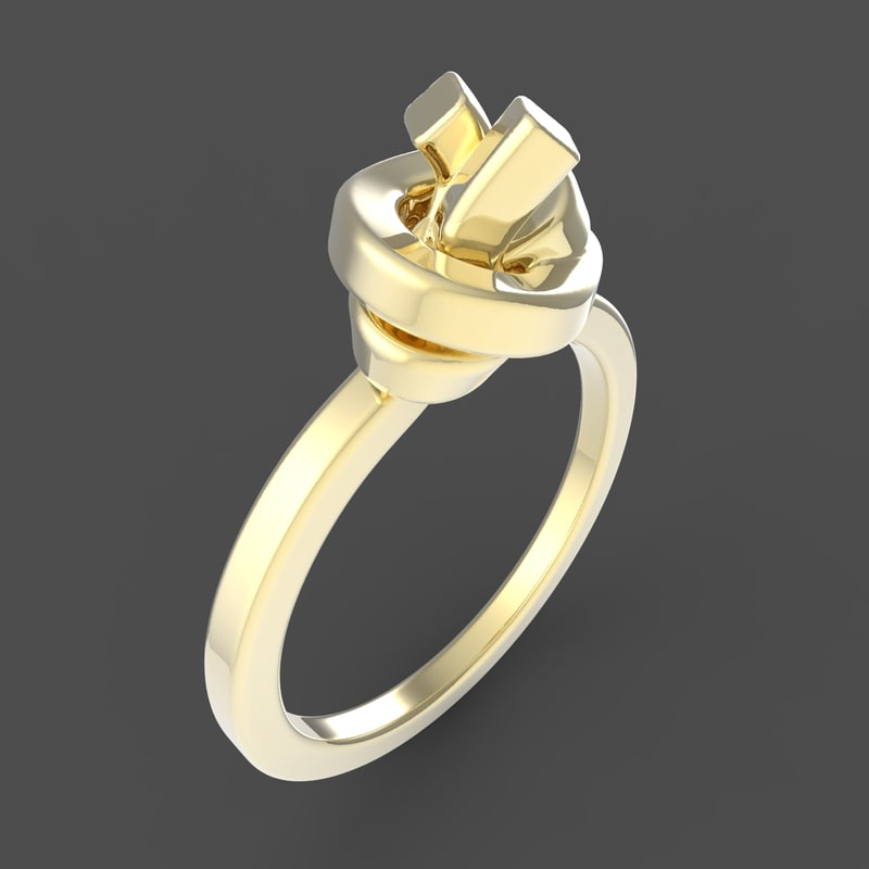 jewelry knot ring 3D model