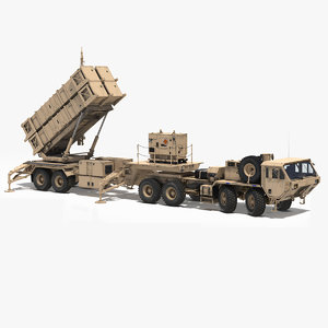 3D mim-104 patriot surface air missile