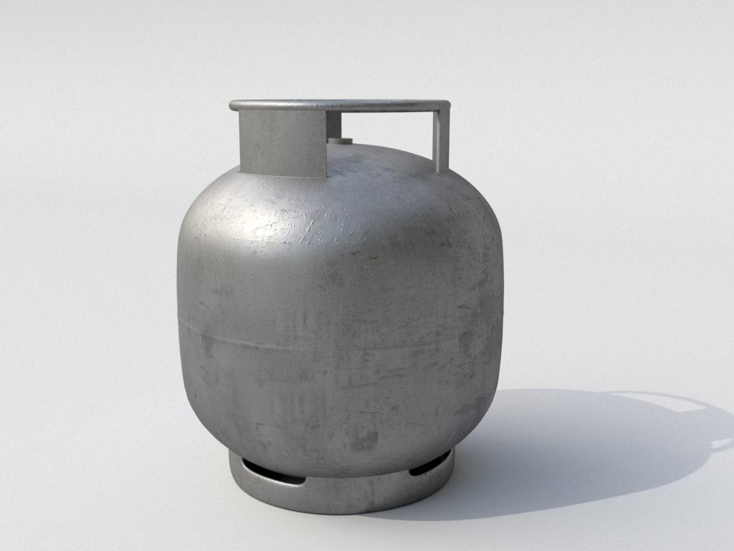 3D gas bottle