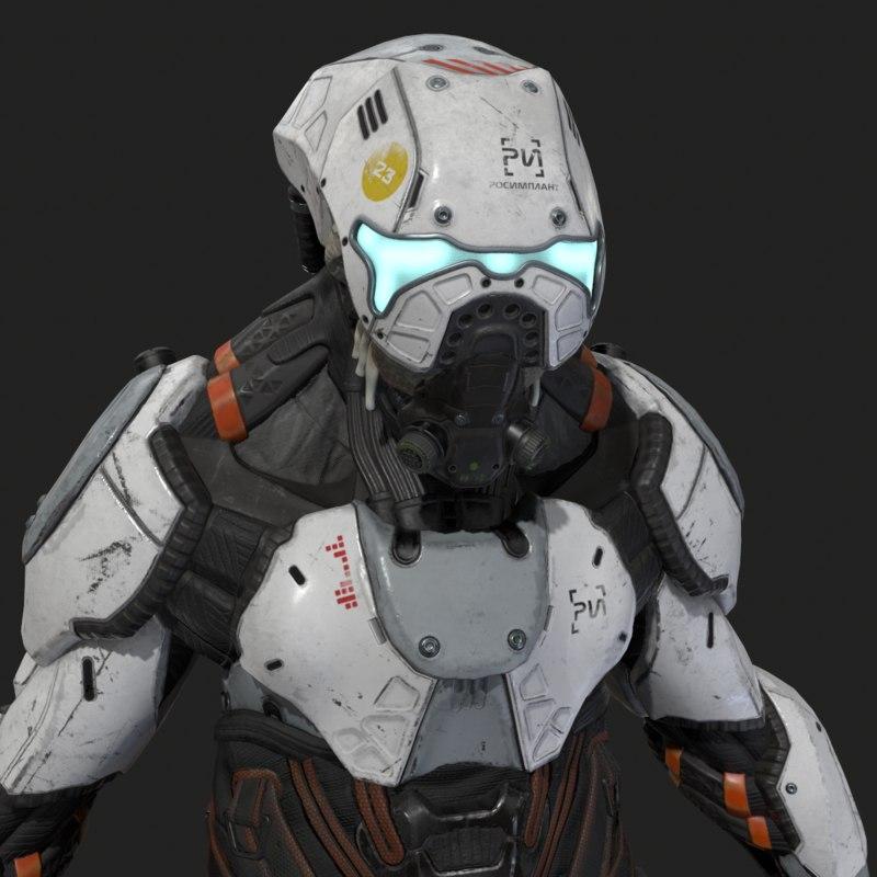 alien cyborg model