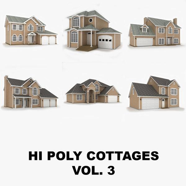 hi-poly cottages vol 3 obj