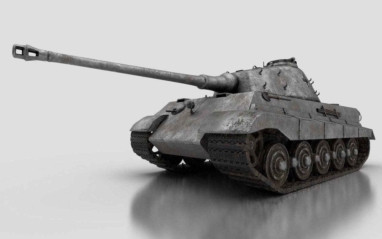 3D tiger ii tank wwii