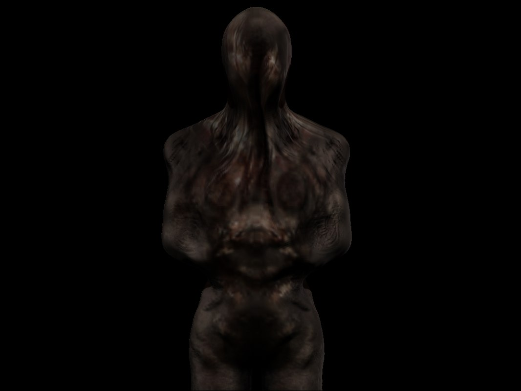 3D lying figure silent hill