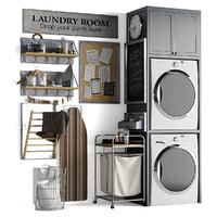 laundry set 3D model