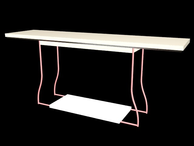 dem table 3D model