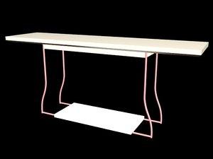 dem table 3D model