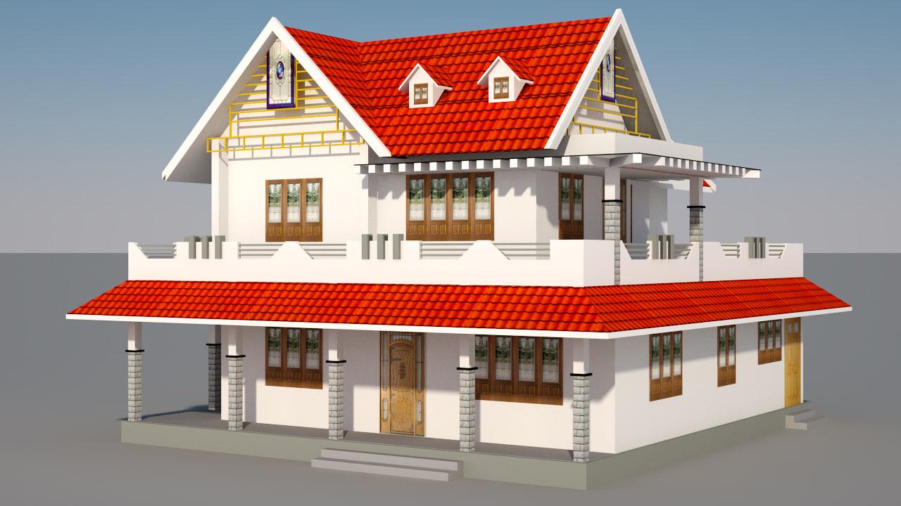 3D house exterior