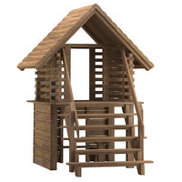 3D playground house 01 model