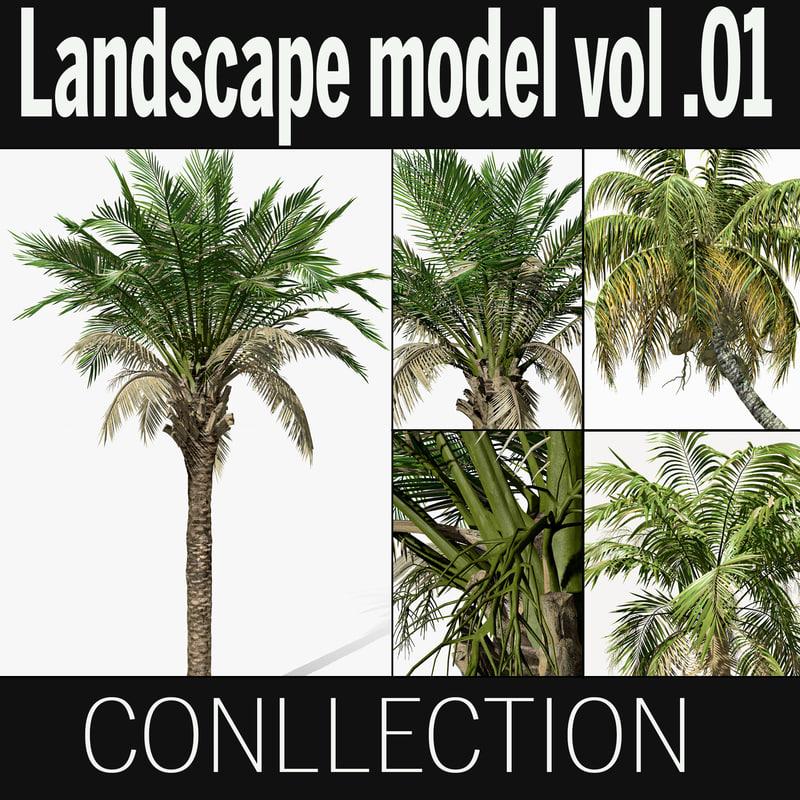 3D landscape tree