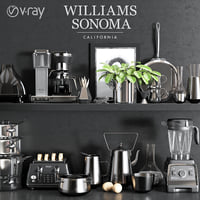 williams sonoma chrome set 3D model
