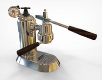 3D lever coffee machine model